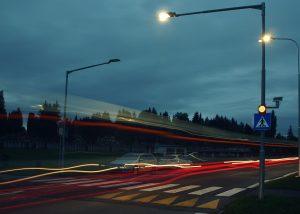 solárne LED výstražné svetlo v boxe 201 ul. A. Hlinku 1