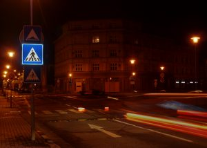 Podsvietená LED zvislá dopravná značka IP6 fotografia druhé prevedenie
