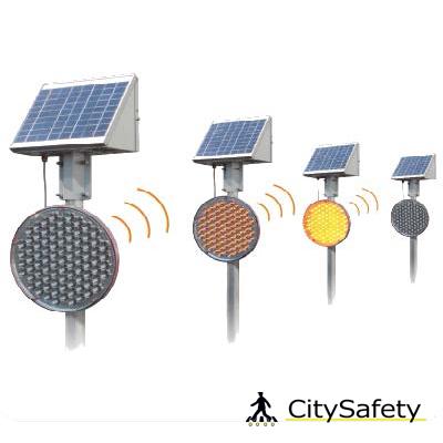 Bezdrôtové solárne LED výstražné svetlá 200/300 varianty