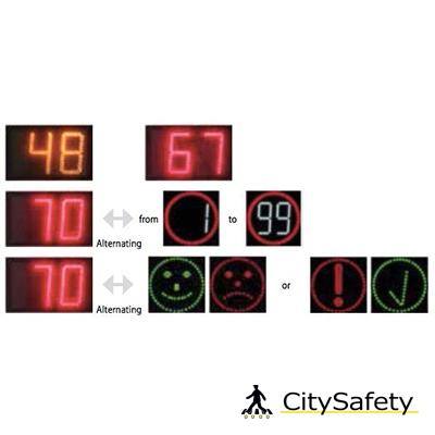 Merač rýchlosti s voliteľnými symbolmi variácie