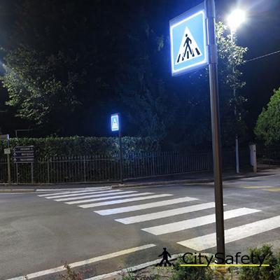 Podsvietené LED zvislé dopravné značenie realizácia