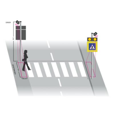 Inteligentný priechod pre chodcov riešenia B