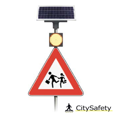 Solárne LED výstražné svetlá s časovačom
