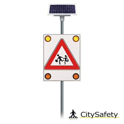Solárne LED výstražné svetlá s časovačom varianta 2