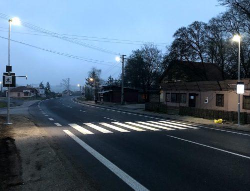 Osvetlenie a zvýraznenie priechodu pre chodcov v obci Bátka