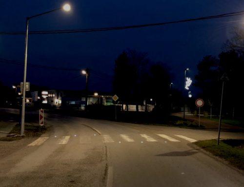 Solárne LED gombíky určené na priechody pre chodcov v obci Cífer