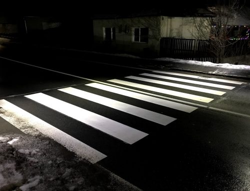 Osvetlenie a zvýraznenie priechodu pre chodcov v obci Mýtna