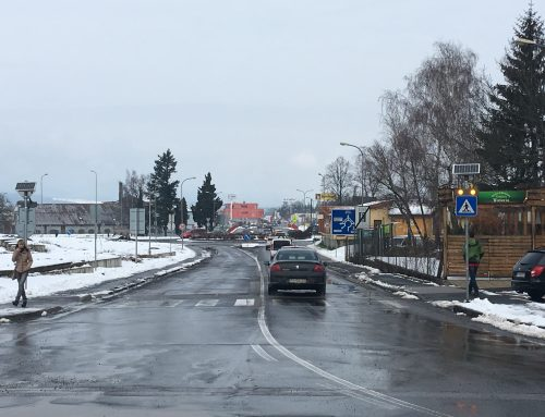 Inteligentný priechod pre chodcov 2 x 102 v meste Zvolen