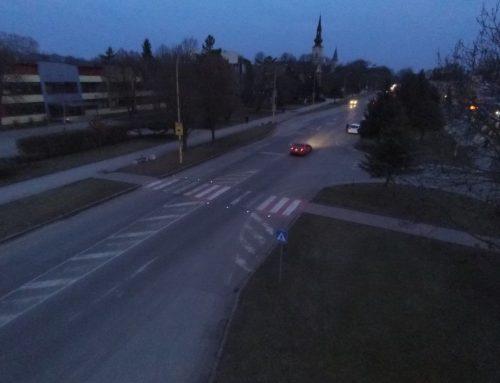 Solárne LED gombíky TL – SLC10 a CS 24 v meste Trebišov
