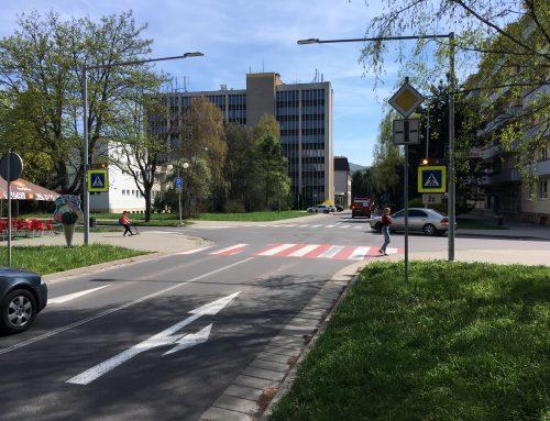 Inteligentný priechod pre chodcov 4 x 102 v meste Zvolen