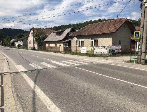 Solárne LED gombíky TL – SLC10 v obci Zborov nad Bystricou