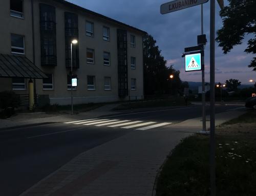 Inteligentné osvetlenie priechodu pre chodcov v meste Zvolen