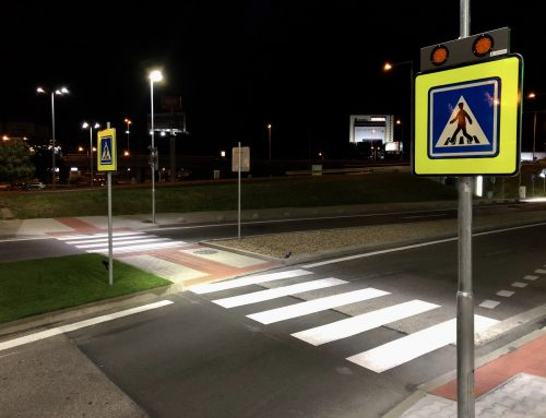 Inteligentné osvetlenie priechodov pre chodcov v meste Bratislava – Aupark
