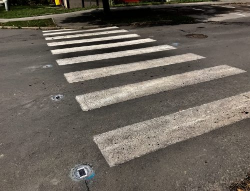 Solárne LED gombíky TL – SLC10 v meste Banská Štiavnica