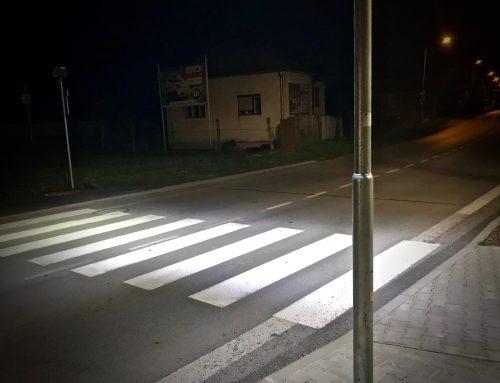 Osvetlenie priechodu pre chodcov v meste Liptovský Mikuláš