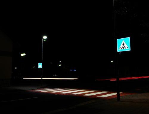 Inteligentné osvetlenie priechodu pre chodcov v meste Krupina