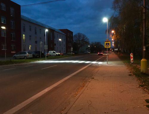 Osvetlenie a zvýraznenie priechodov pre chodcov – Nové Mesto nad Váhom