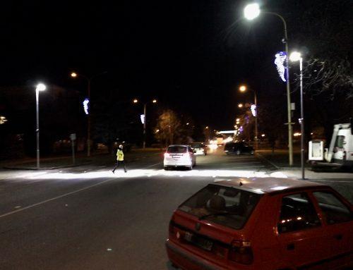 Osvetlenie a zvýraznenie priechodov pre chodcov v meste Trebišov