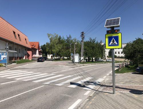 Inteligentný priechod pre chodcov 102 v obci Moravany nad Váhom