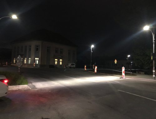 Solárne osvetlenie priechodu pre chodcov v obci Sása