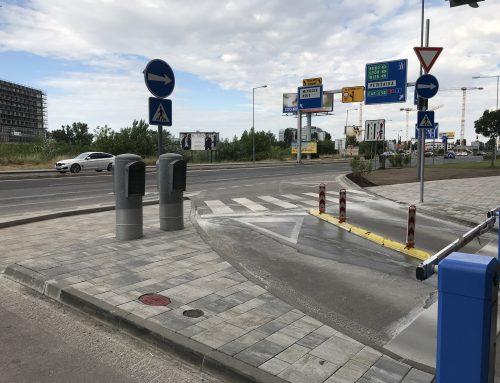 Inteligentné priechody pre chodcov (Tower 115) v meste Bratislava